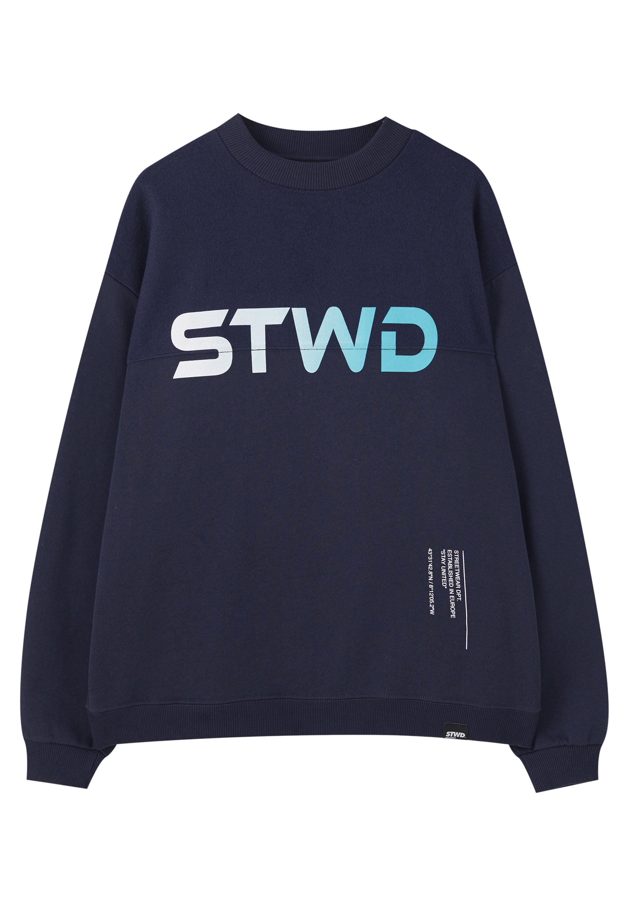 PULL&BEAR MIT WOLFSMOTIV Sweatshirt dark blue Zalando.at