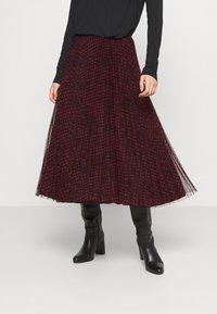 Guess - RAEGAN REVERSIBLE SKIRT - A-line skirt - scratched vichy black - 0