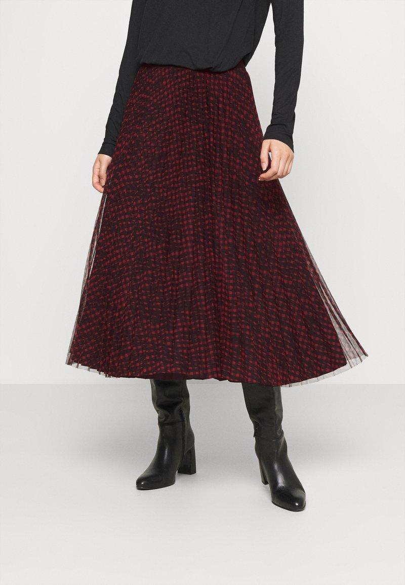Guess - RAEGAN REVERSIBLE SKIRT - A-line skirt - scratched vichy black