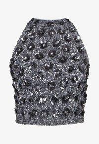 Lace & Beads - GIU - Bluzka - charcoal - 4
