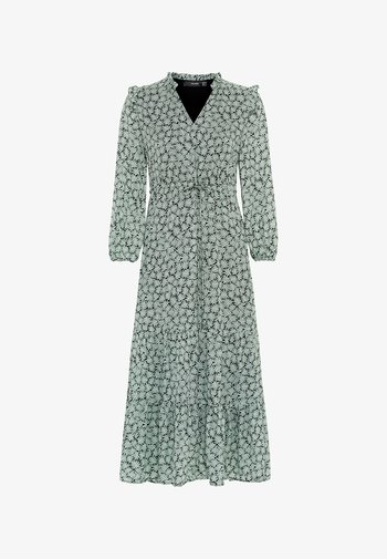 MIT VOLANTS - Day dress - dusty mint