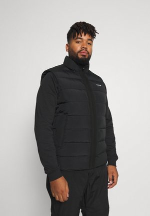 CRINKLE VEST - Waistcoat - black