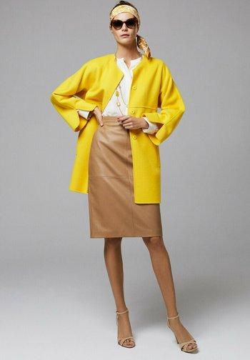 Classic coat - giallo