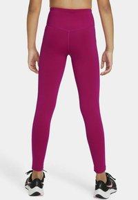 Nike Performance - ONE  - Leggings - fireberry/white - 2