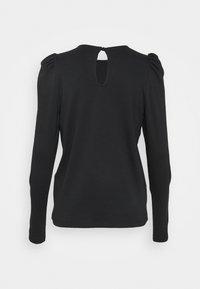Vero Moda Tall - VMNOREEN O NECK BLOUSE - Camiseta de manga larga - black - 1