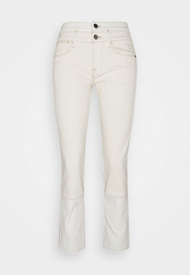 LE HIGH STRAIGHT SPRING MIX - Straight leg -farkut - vintage white multi