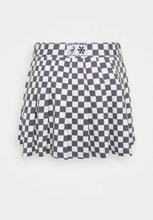 CHECKERBOARD SKIRT - A-linjainen hame - black/white