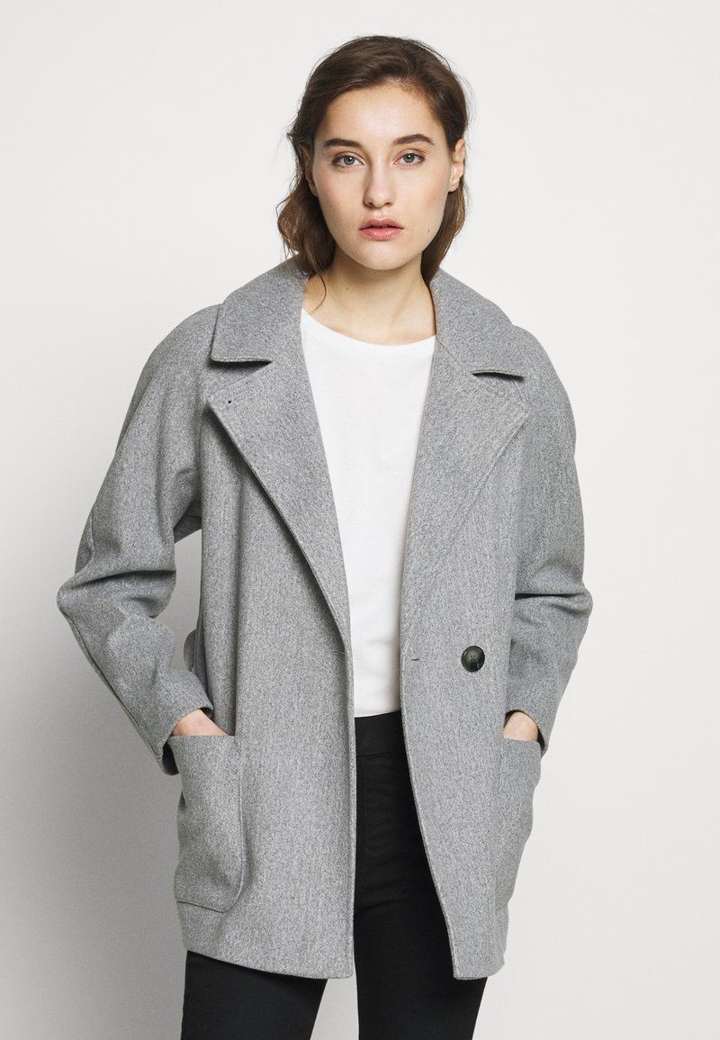 Dorothy Perkins - SHORT WRAP LIGHTWEIGHT COAT - Krátký kabát - grey