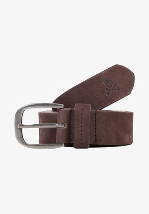 SKULL  - Belt - brown