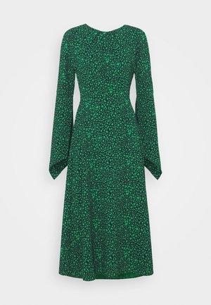 LONG SLEEVE TWIST BACK MIDI - Maxi šaty - dark navy/emerald