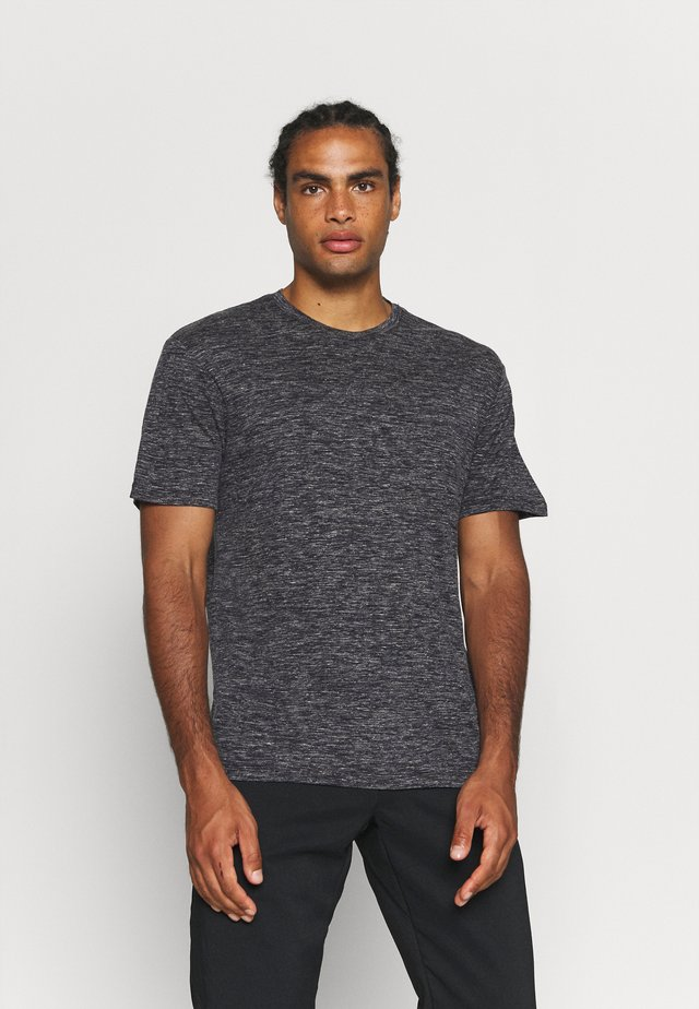 DOWLAS CREWE - Print T-shirt - midnight navy