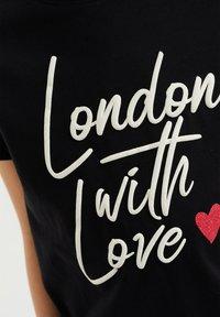 WE Fashion - Camiseta estampada - black - 2