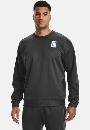UA RECOVER  - Long sleeved top - black full heather