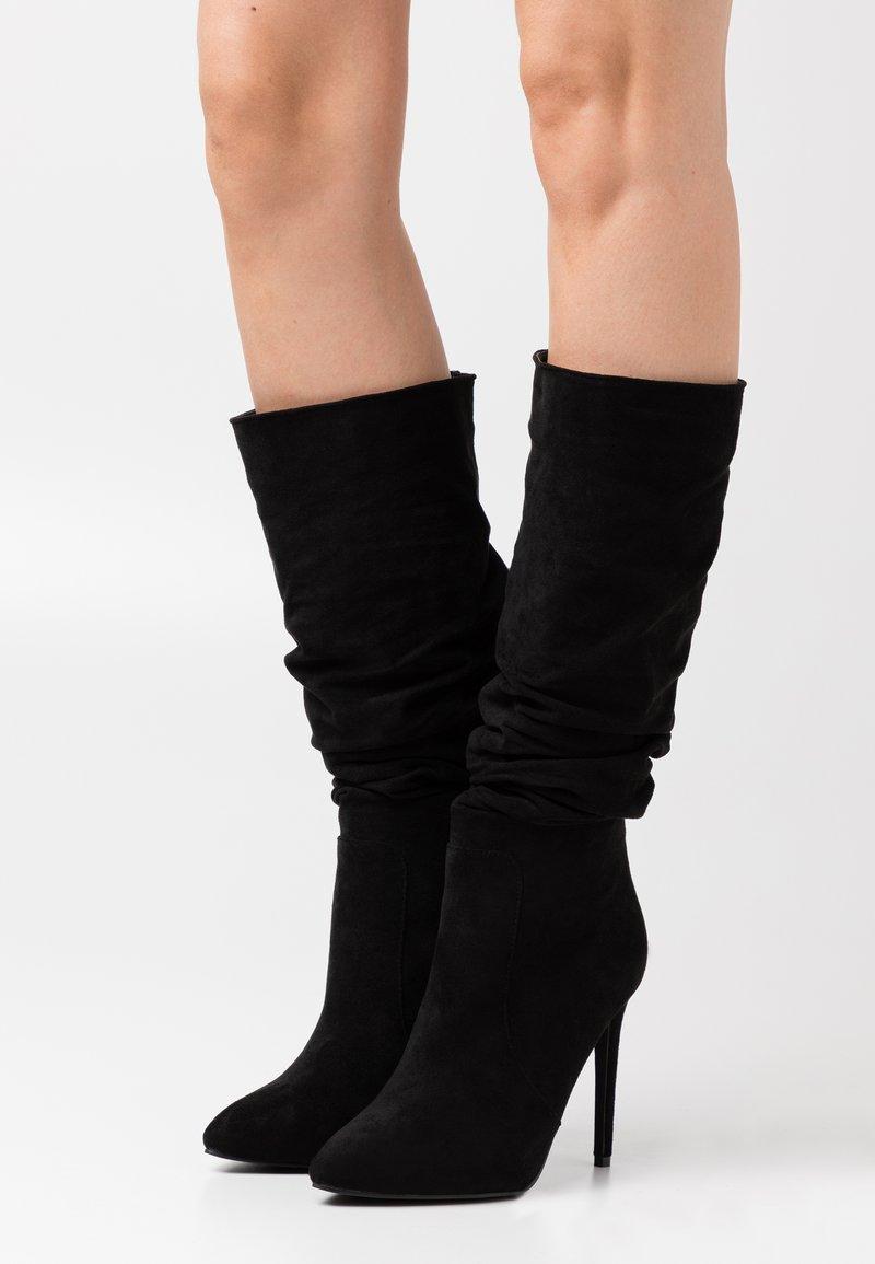 RAID Wide Fit - SELAH - Boots med høye hæler - black