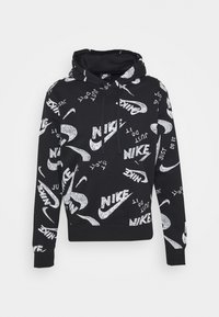 Nike Sportswear - CLUB HOODIE - Mikina skapucí - black/white - 0