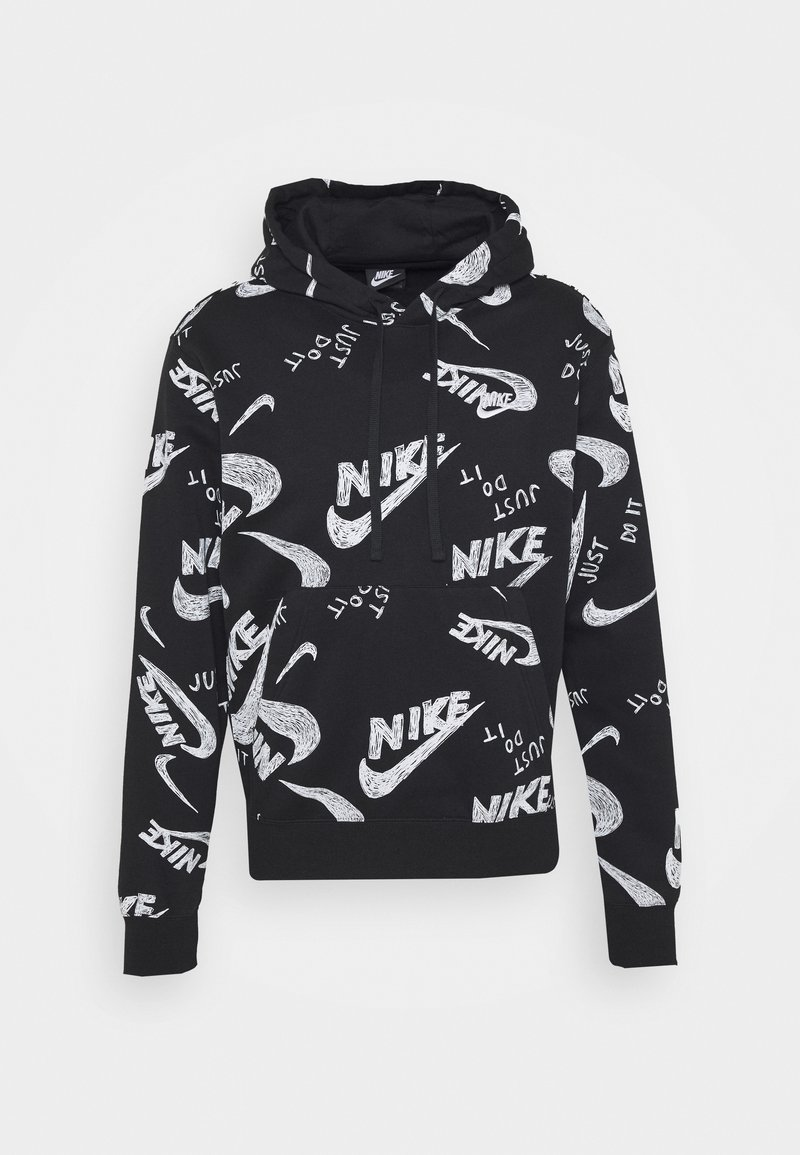 Nike Sportswear - CLUB HOODIE - Mikina skapucí - black/white