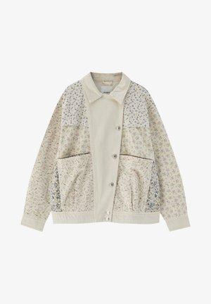 MIT BLUMENPRINT - Summer jacket - beige