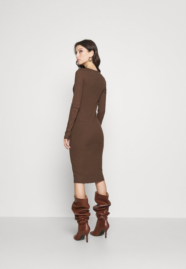 VMPOLLY NECK DRESS  - Shift dress - rocky road