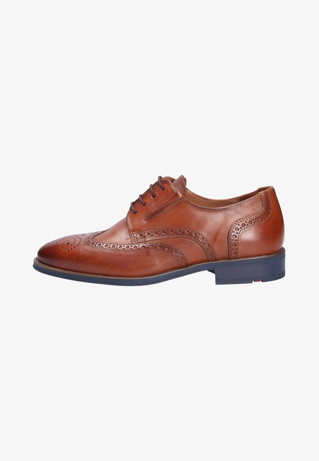 Smart lace-ups - cognac (5)