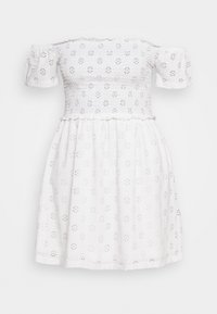Nly by Nelly - BRODERIE SMOCK DRESS - Jersey dress - white - 4