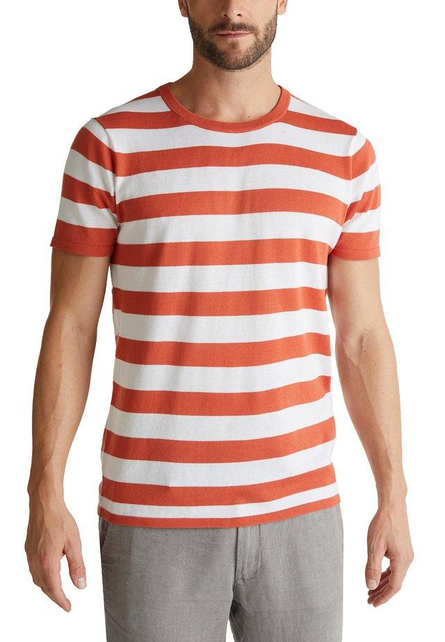 T-shirt imprimé - terracotta