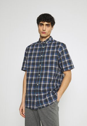 REGULAR SPACE DYE CHECK - Chemise - navy space