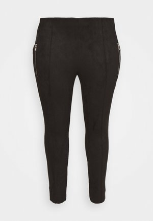 VMCAVA ZIP NWFAUX - Leggings - Trousers - black