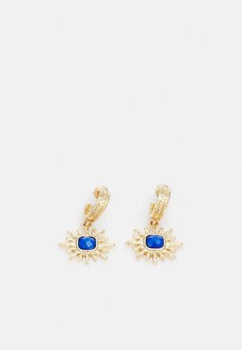 STARBURST DROP HOOP EARRINGS - Earrings - gold-coloured