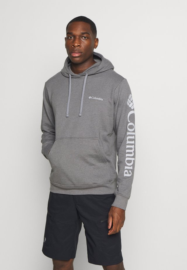 VIEWMONTII SLEEVE GRAPHIC HOODIE - Hoodie - city grey