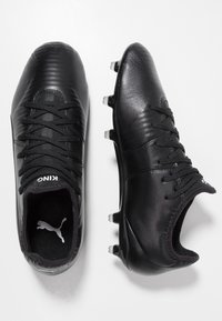 Puma - KING PRO FG - Fotbollsskor fasta dobbar - black/white - 1