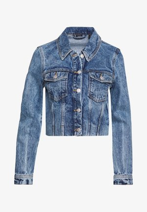 VMMIKKY CROPPED JACKET  - Džínová bunda - light blue denim