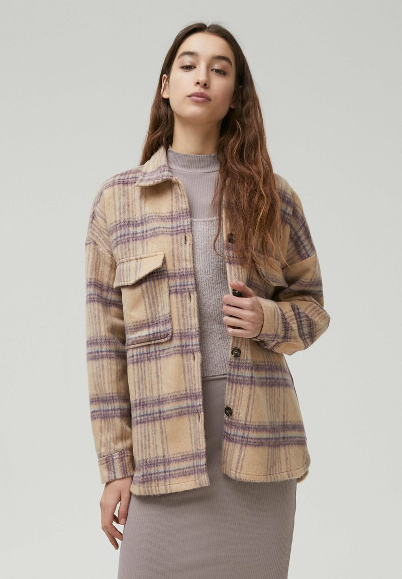 PULL&BEAR - Button-down blouse - beige