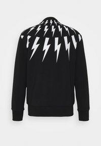 Neil Barrett - FAIR-ISLE THUNDERBOLT - Zip-up hoodie - black/white - 1