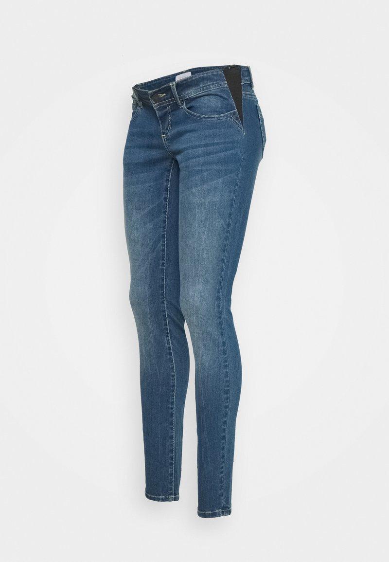 MAMALICIOUS - MLESSEX  - Slim fit jeans - medium blue denim