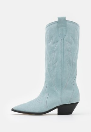 WANNA KNOW U - Cowboy/Biker boots - blue