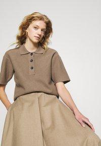 WEEKEND MaxMara - CABLO - A-line skirt - camel - 4