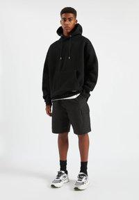 PULL&BEAR - Hoodie - mottled black - 0