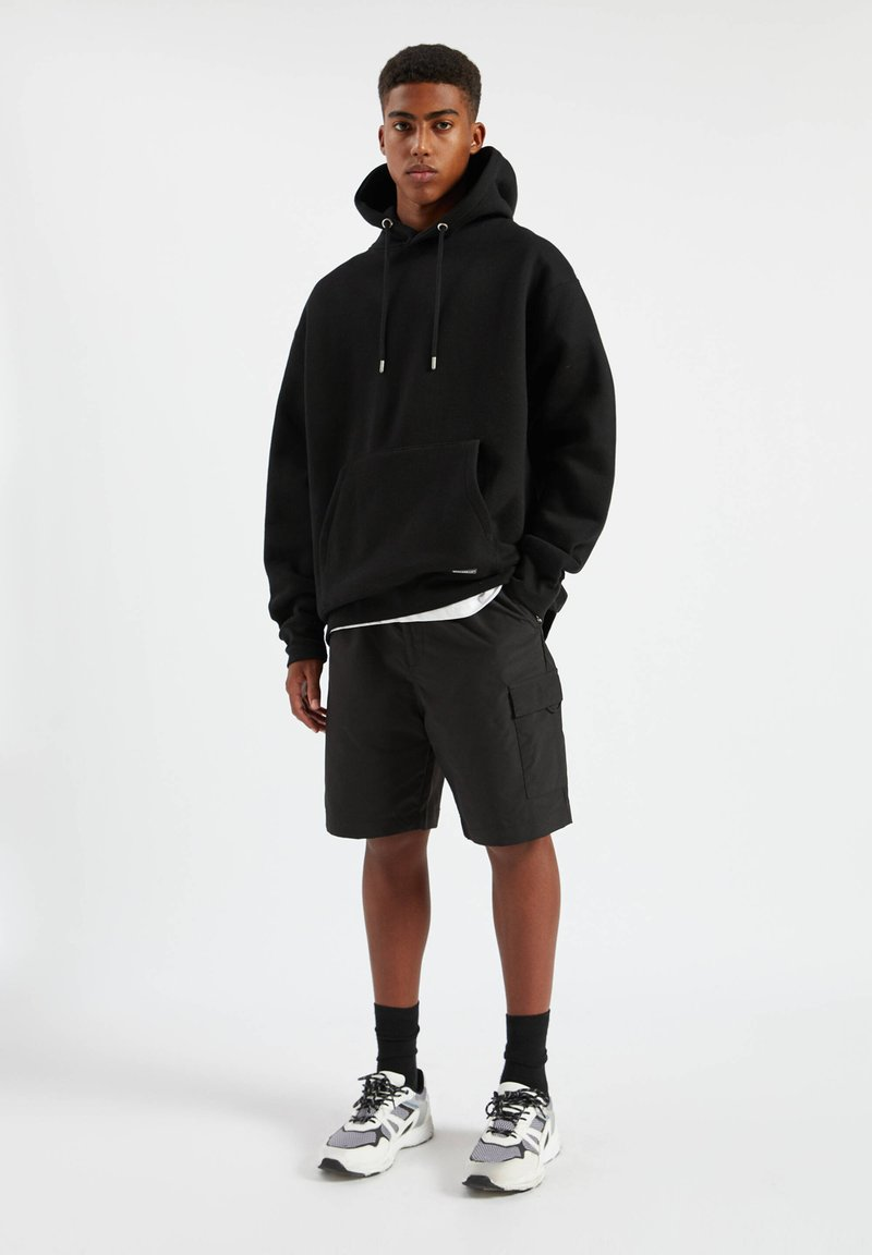 PULL&BEAR - Hoodie - mottled black