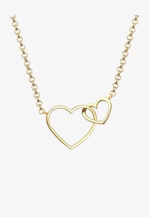 HERZ UNENDLICHKEIT LIEBE  - Halskette - gold coloured