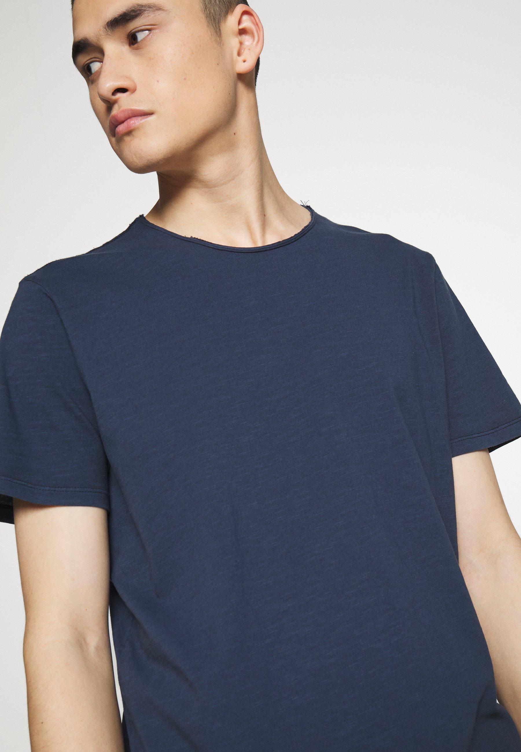 Jack & Jones PREMIUM JJEASHER TEE O-NECK NOOS - Basic T-shirt - navy dnjEU