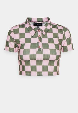 CHECKERBOARD - Camiseta estampada - pink