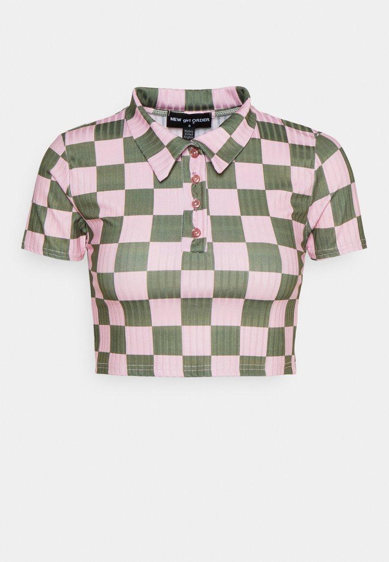 NEW girl ORDER - CHECKERBOARD - Print T-shirt - pink