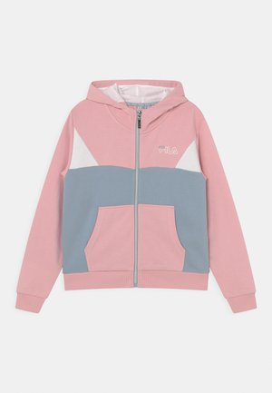 SAMANTHA CROPPED HOODY - Zip-up sweatshirt - coral blush/blue fog/bright white