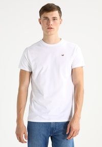 Hollister Co. - CREW CHAIN 3 PACK - Basic T-shirt - white/grey/navy