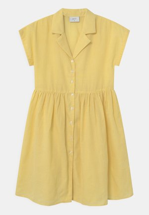 JANE CHECK  - Shirt dress - yellow