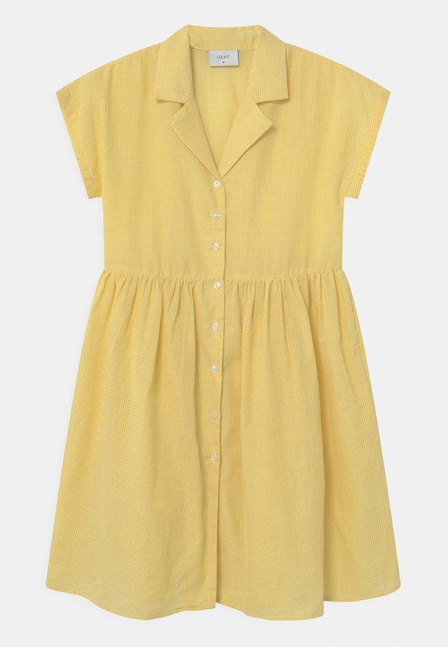 JANE CHECK  - Košilové šaty - yellow