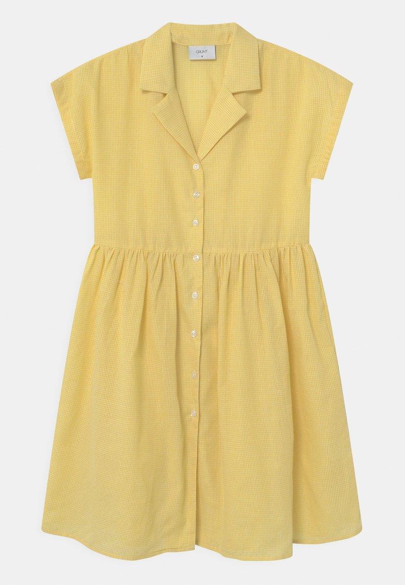 Grunt - JANE CHECK  - Shirt dress - yellow