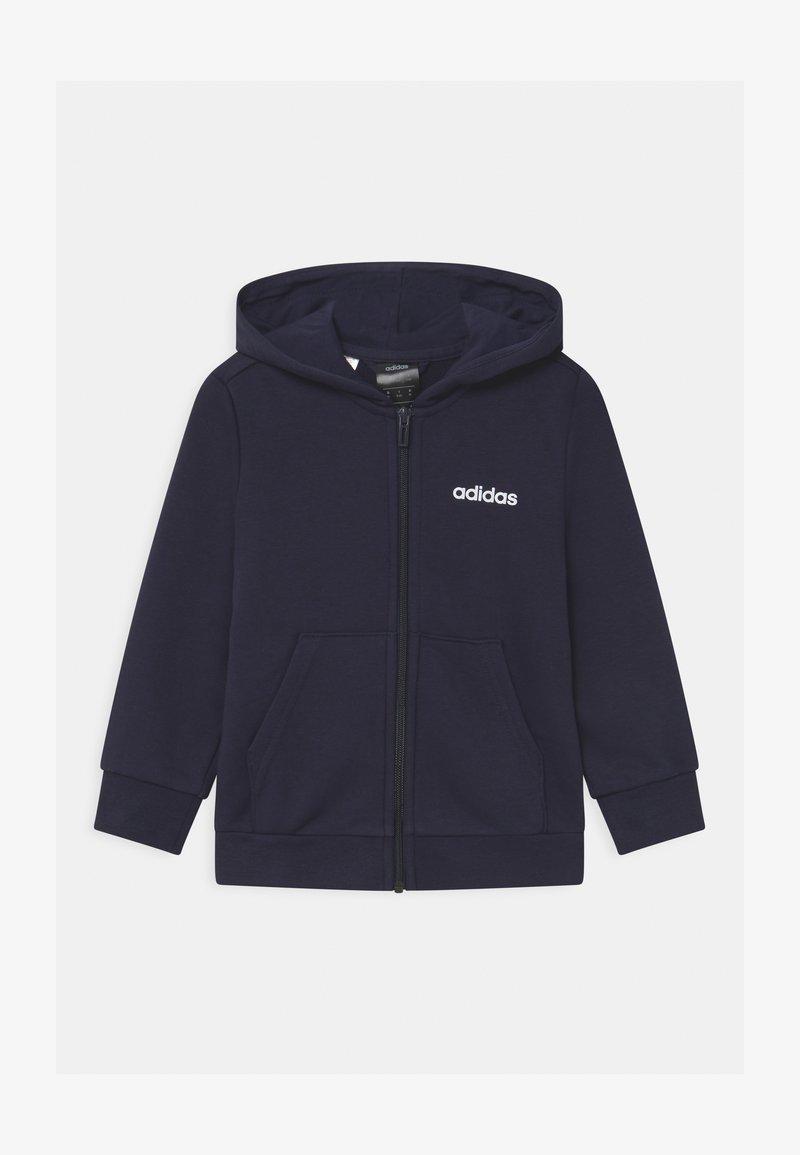 adidas Performance - UNISEX - Zip-up hoodie - legend ink/white