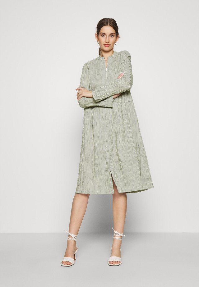 DUPINA - Day dress - army/white