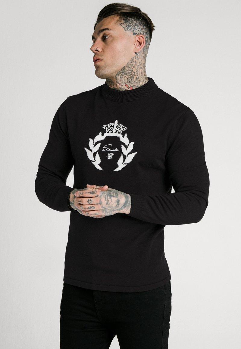 SIKSILK - HIGH NECK KNITTED PRESTIGE  - Jumper - black